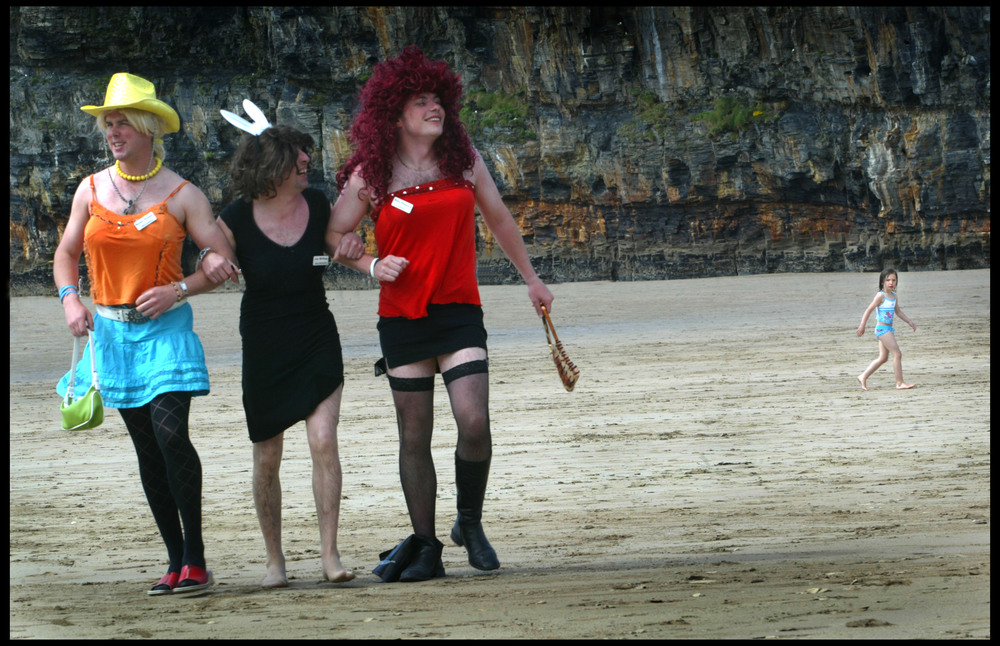 The drag queen contest at the Ballybunion Bachelor Festival