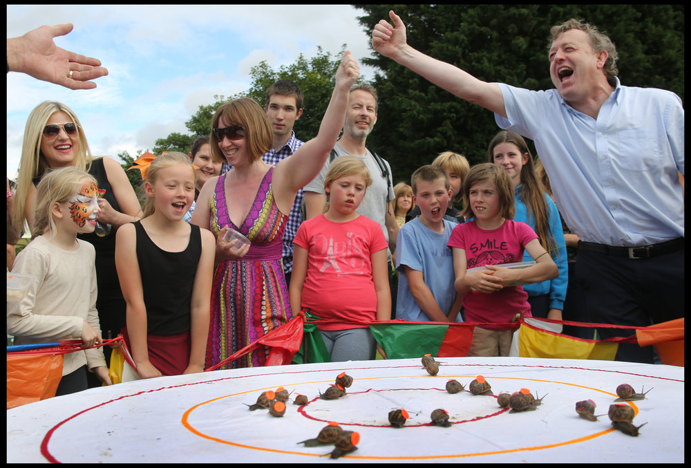 The World Snail Racing Championships, Cogham, Norfolk