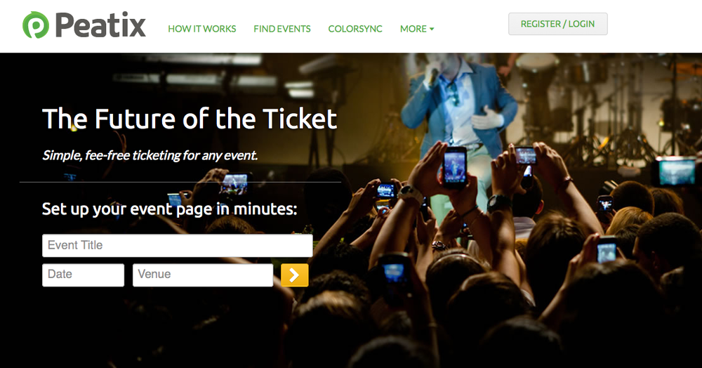 Peatix.com offers a brand new interactive way of selling / ordering tickets.