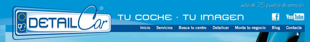 La pagina principal del sitio web de DetailCar.