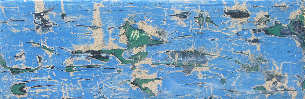 Paint on Blue Wooden Boat