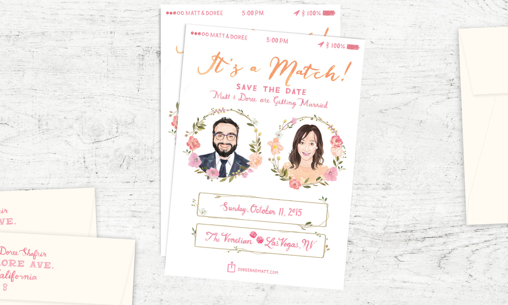 Doree & Matt</a><strong>Custom Save the Date</strong>