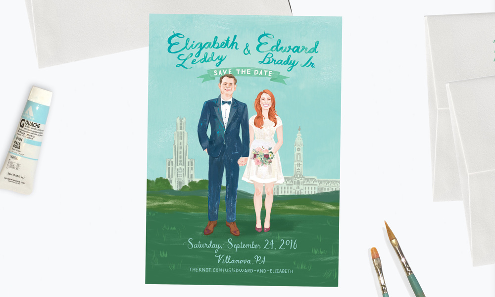 Elizabeth & Edward</a><strong>Custom Save the Date</strong>
