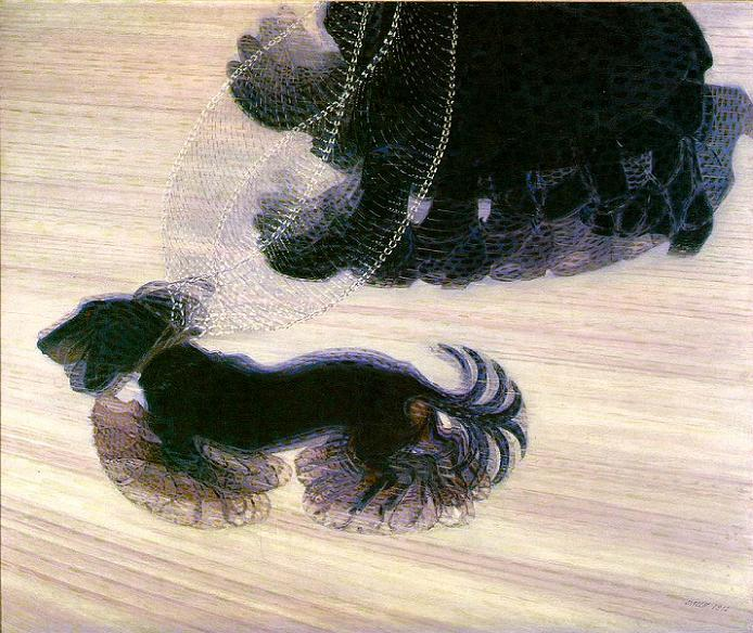 "Giacomo Balla, ""Dynamism of a Dog on a Leash"" (1912)"