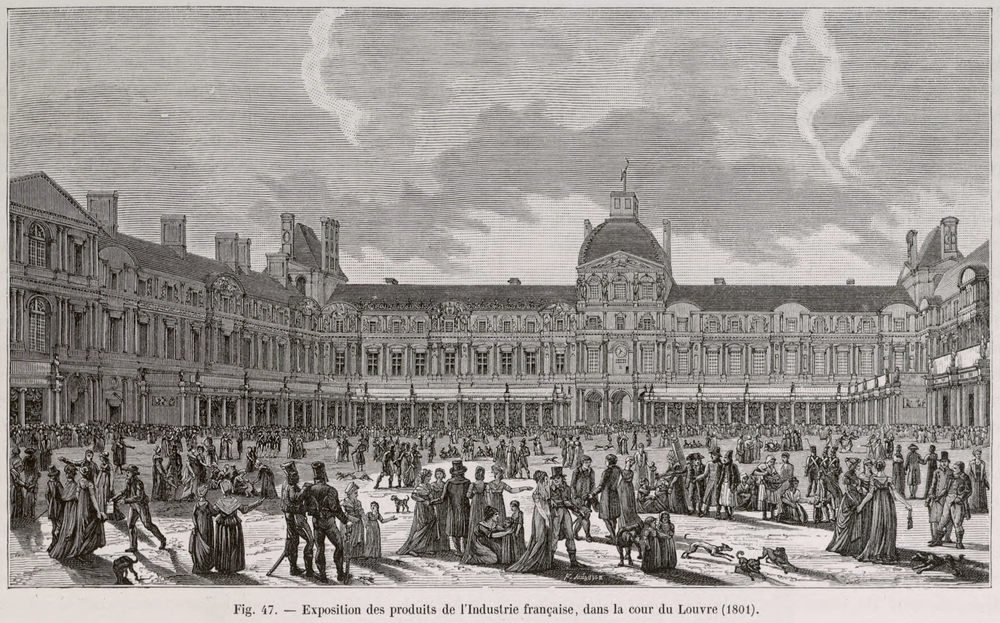 1801 Exposition in the courtyard of the Louvre
