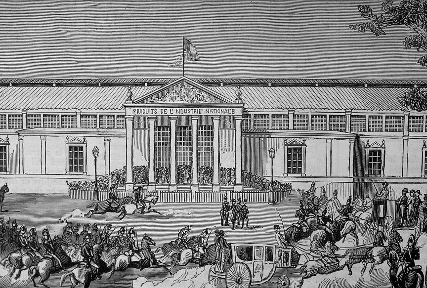 1849 exposition building facade
