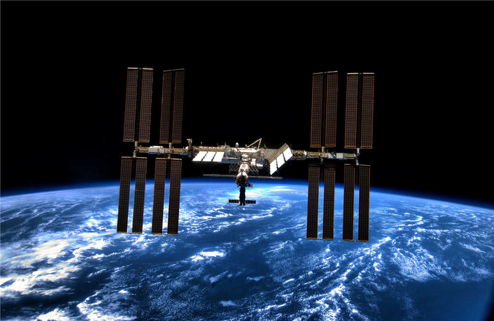 Real thing: The International Space Station in Orbit