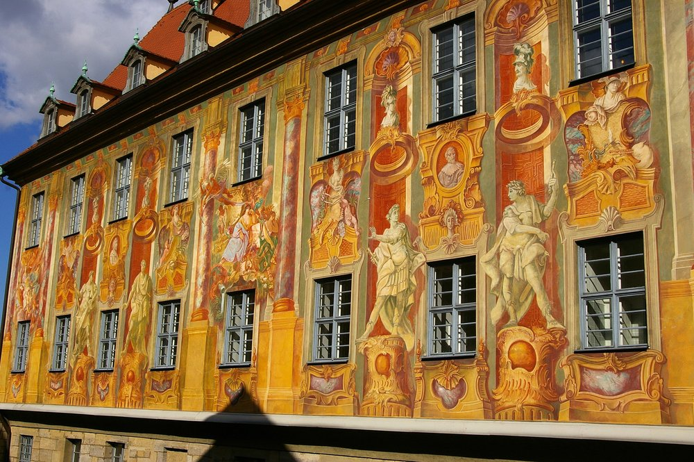 Facade painting by Johan Anwander, 1755 (photo: Wikimedia Commons)
