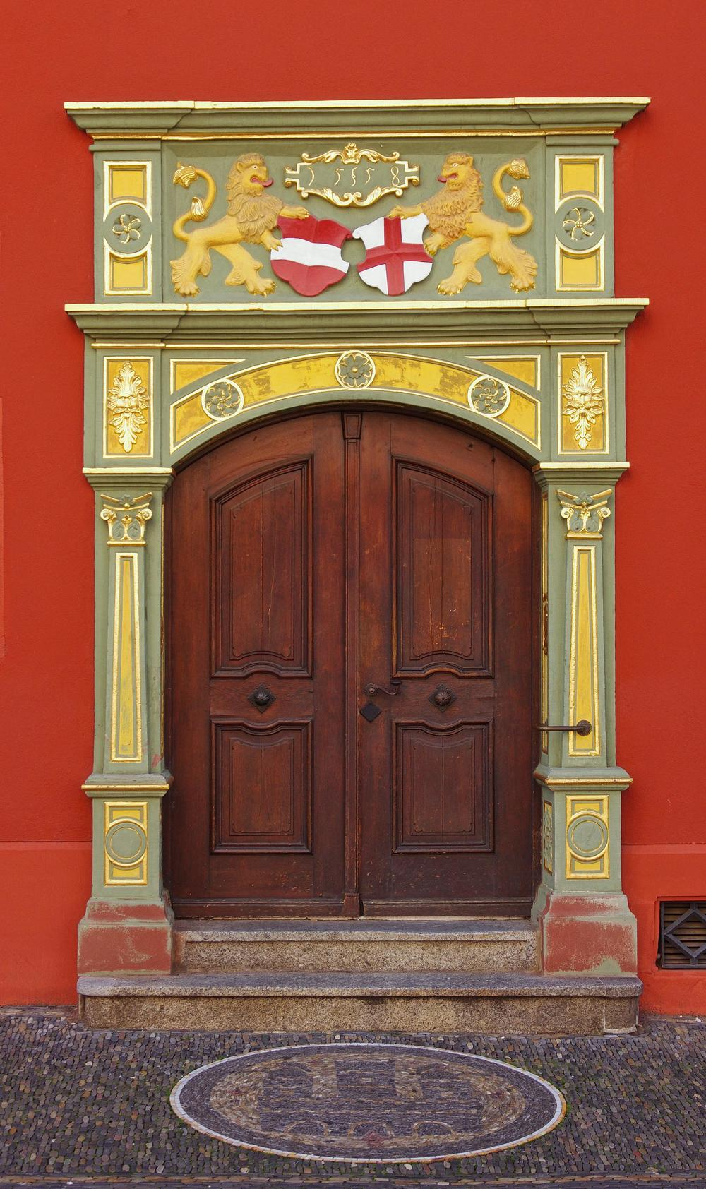 Door in old city hall building