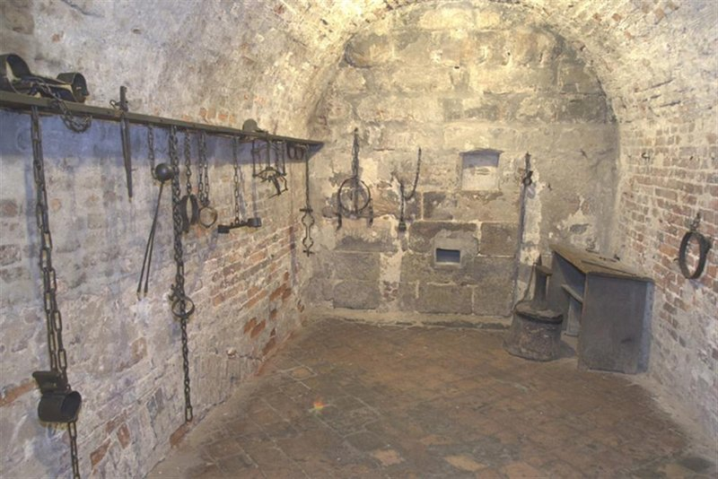 Medieval dungeon and torture chamber below ground floor of Nuremberg city hall