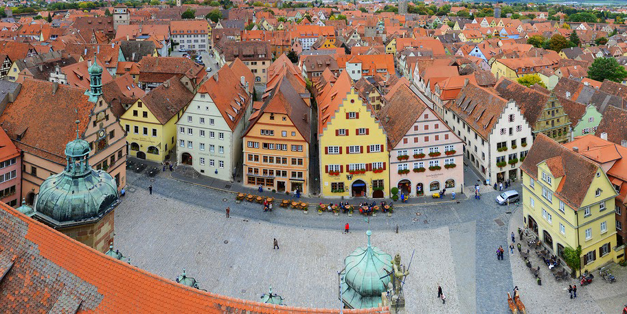 View of Rothenburg from city hall roof