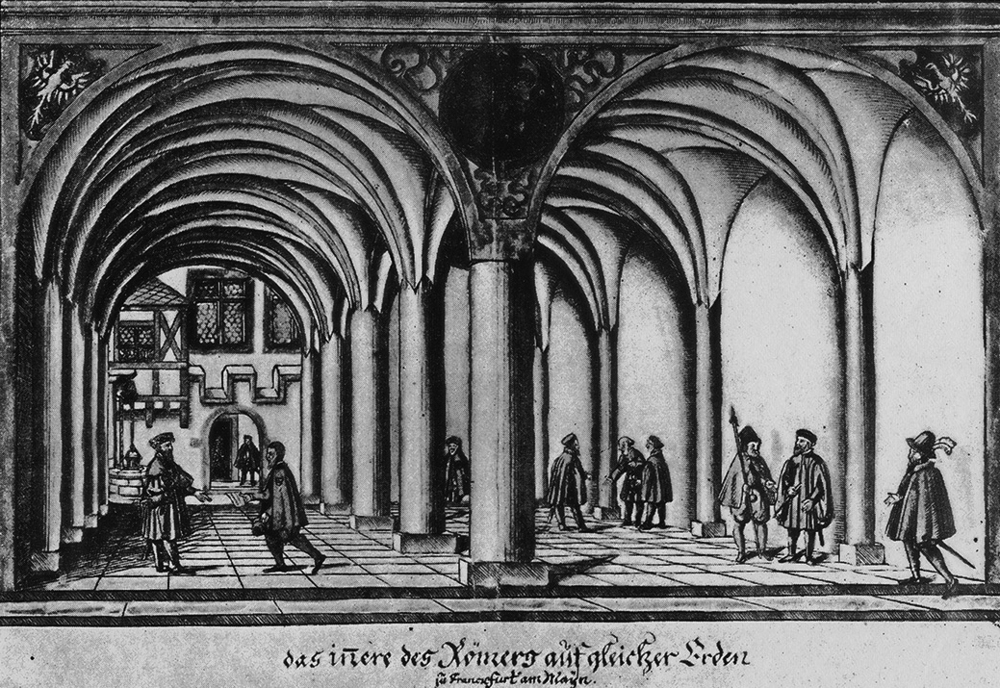 Inside the central building (Römer), 1553