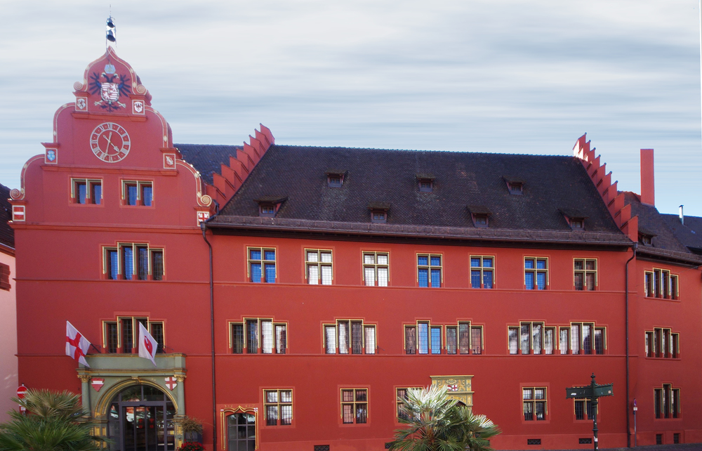Freiburg im Breisgau Old City Hall; begun in the fourteenth century, and often altered