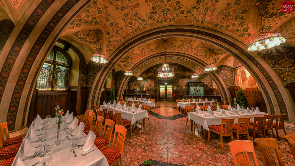 The Rittersaal (Knight's Room), one of five dining venues in the Vienna City Hall