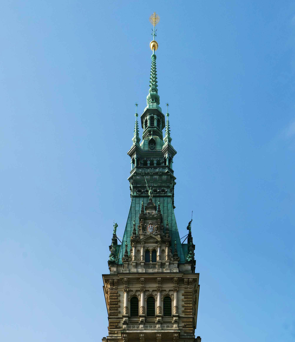 Tower top and finial