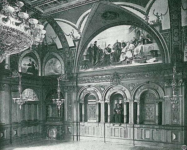 Meeting room in the city hall, 1895 (photo by Karl Lange)