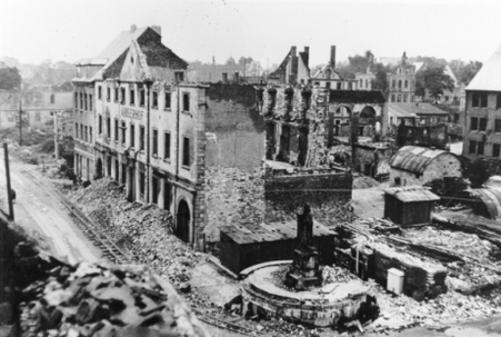 The Paderborn City Hall in 1945