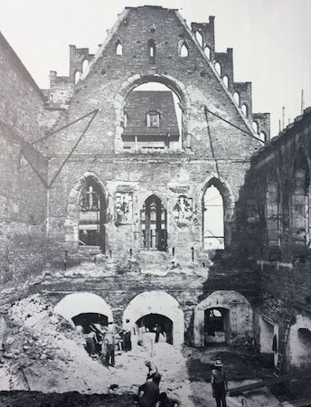 The Nuremberg City Hall in 1945