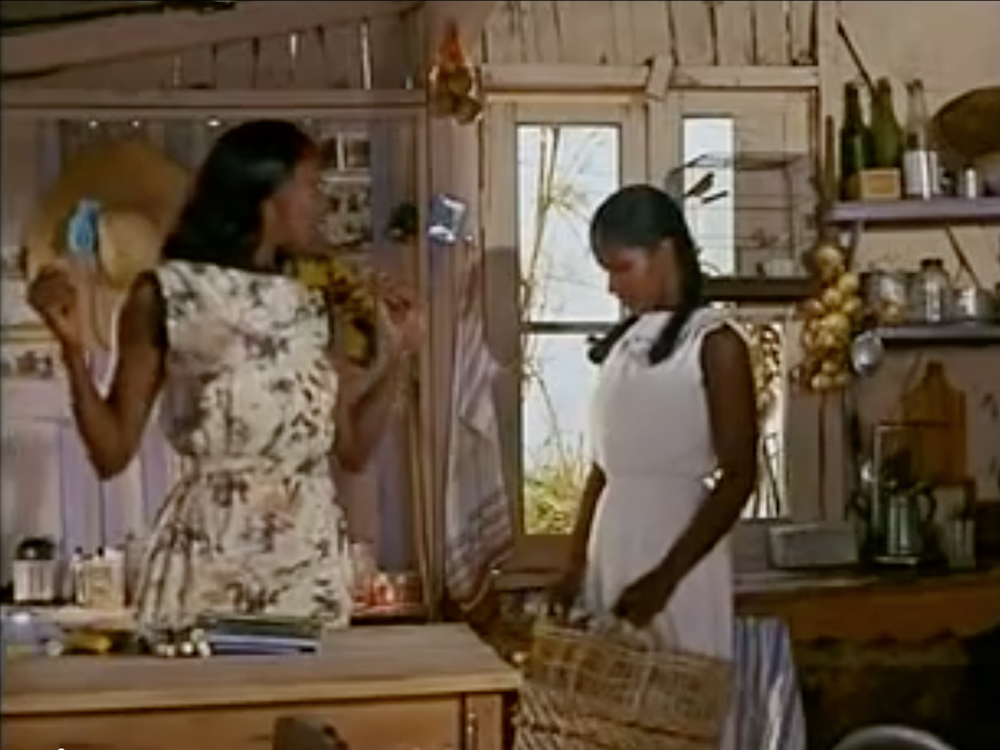 Eurydice and her Cousin in a hillside shack, from the film Orfeu Negro (Black Orpheus)