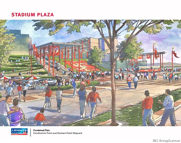 Proposed 49er Stadium in Candlestick-Hunter's Point Area (2007)