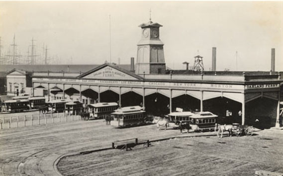 First Ferry Building, constructed in 1875