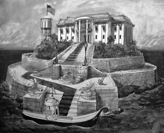 Alcatraz as a Summer White House, by Barton David, 1963