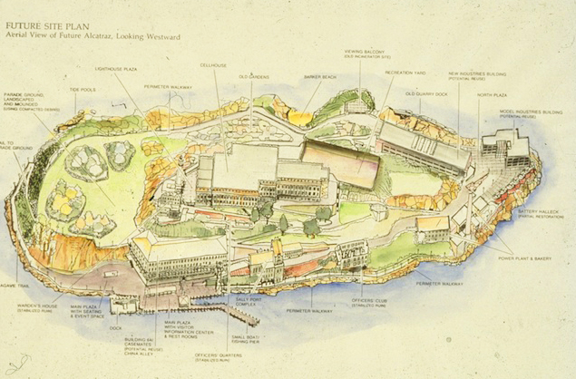 Lawrence Halprin's 1988 plan to combine prison history with natural habitat