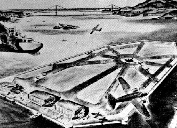 Scheme to make Treasure Island into a commercial airport after the closing of the Golden Gate International  Exposition in 1940