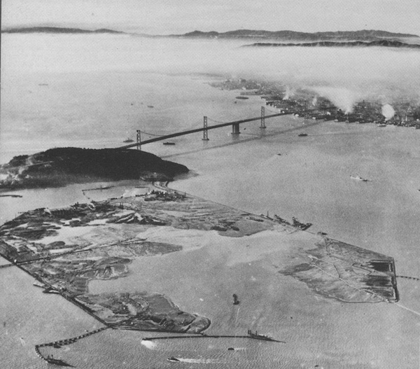 Construction of Treasure Island by the Army Corps of Engineers, 1937-1939