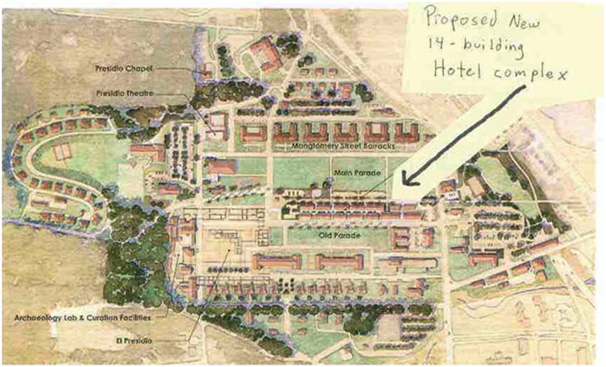 Presidio Hotel Complex proposal, 2010