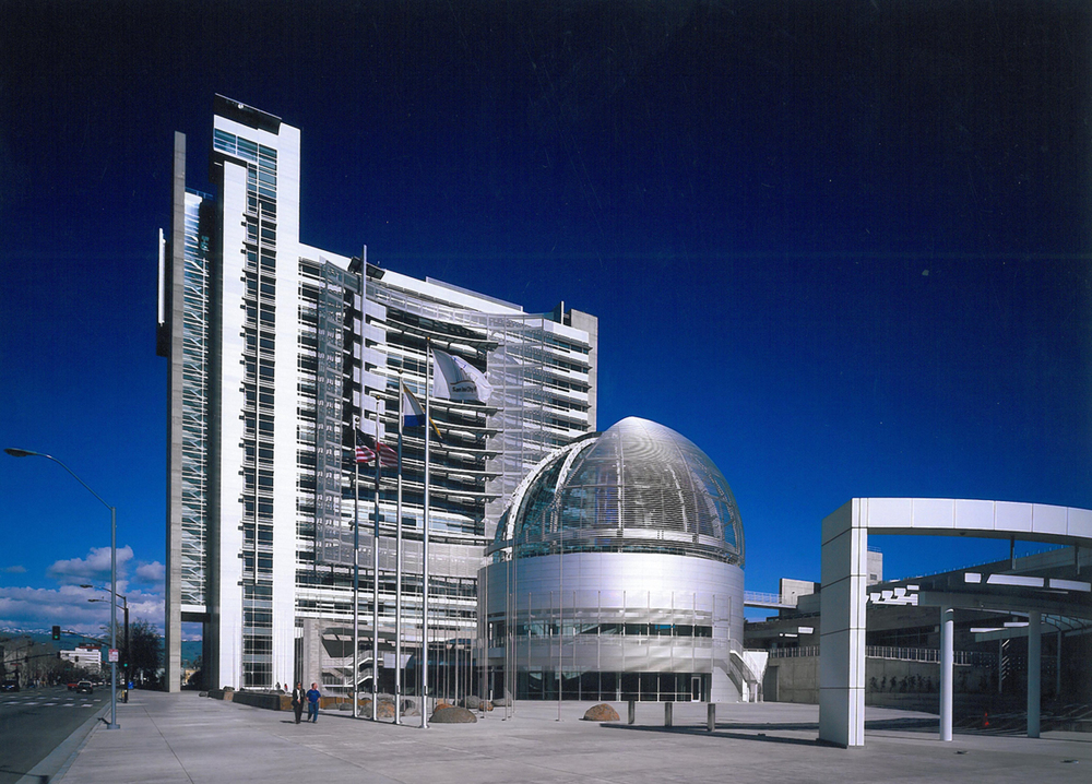 Newest city hall, designed by Richard Meier, at a cost of $382 million (according to some sources, the most costly city hall ever built in America)