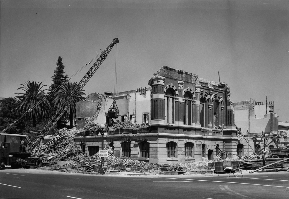 Demolition in 1958