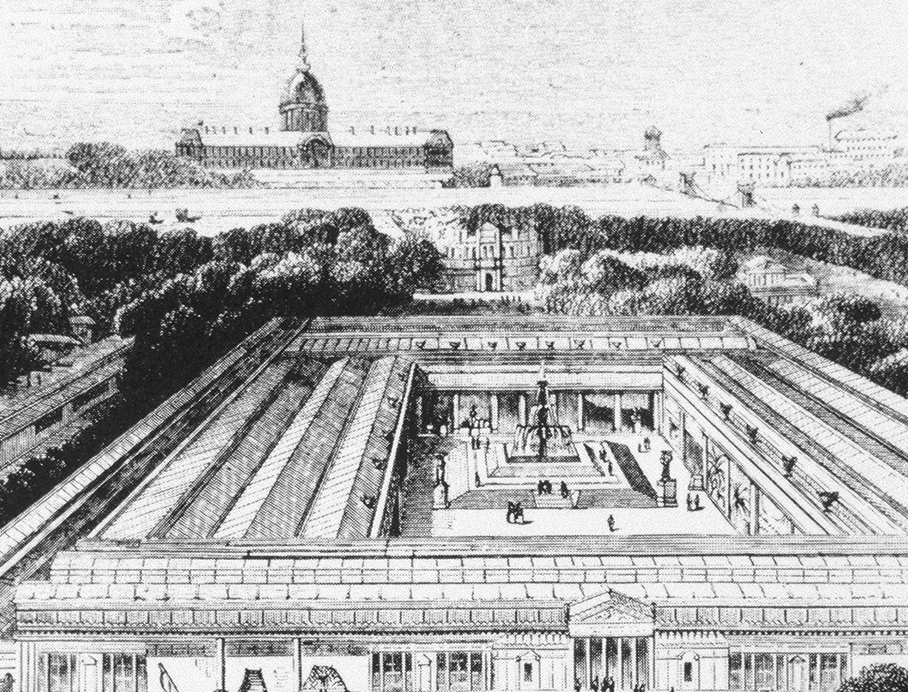Exposition Building, with Les Invalides in the Background