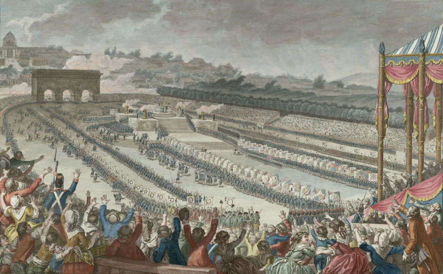 Fête de la Fédération, from a watercolor by Antoine-Jean Duclos