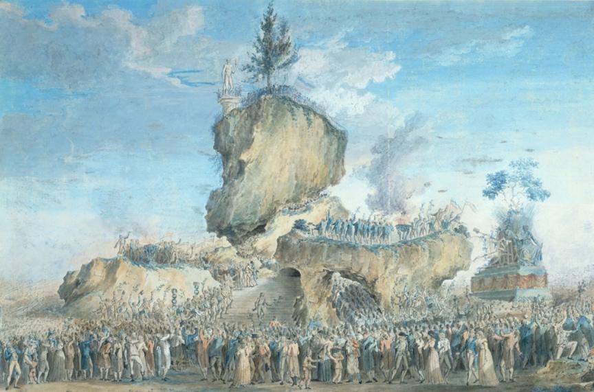 """La Fête de l'Etre suprême watercolor by """"Naudet"""""""