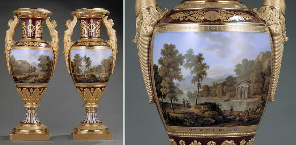 Pair of vases by Henri and François Nast