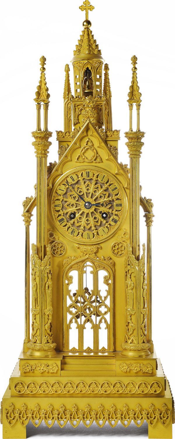 "This Gothic ""Cathedral Clock"" by Charles François Petit won a gold medal at the 1827 exposition"