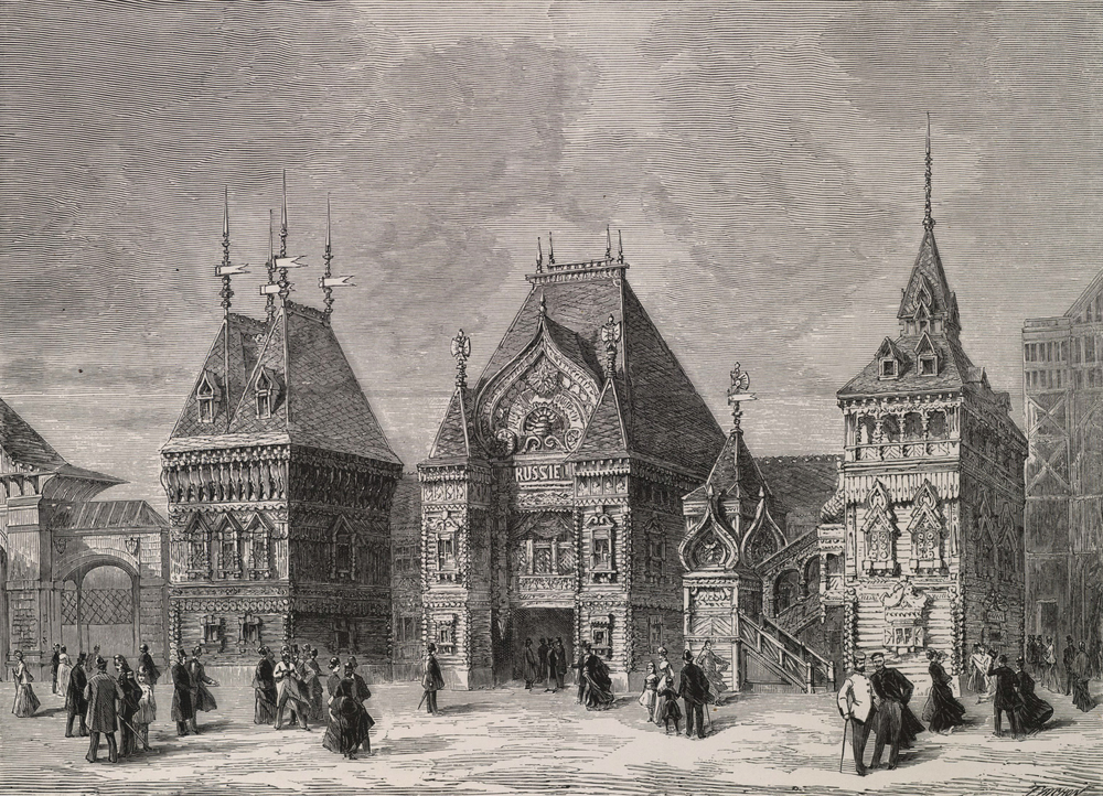 Russian pavilions, 1878 exposition (click the image for a larger view)