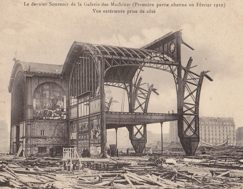 Destruction of the  Galerie des Machines , 1910