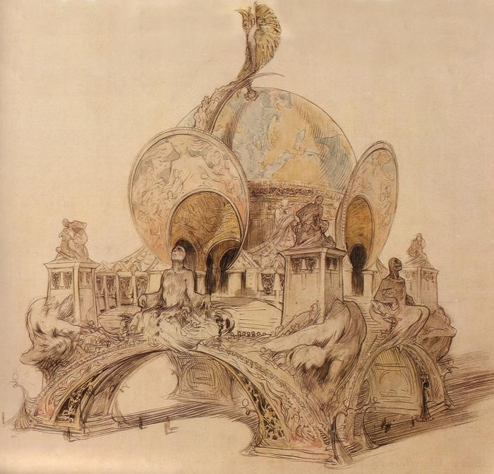 Alphonse Mucha, 1897 Proposal for the Entrance to the 1900 Exposition