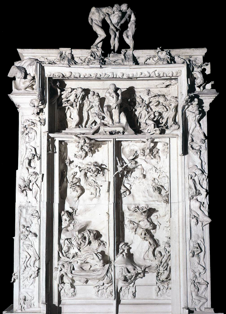 "Plaster cast version of Rodin's ""Gates of Hell"""