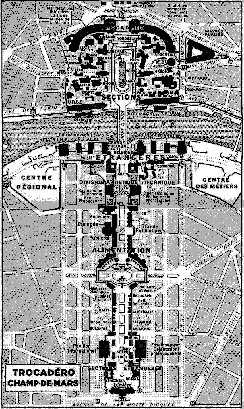 1925 Exposition Plan