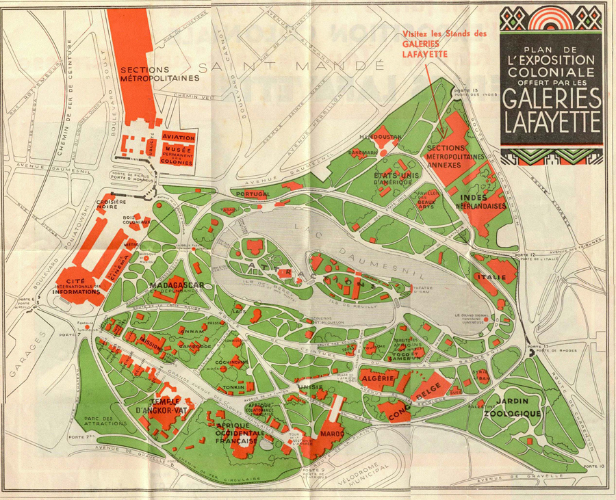 Plan of the 1931 Exposition (Click here for more images)