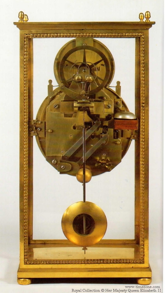Rear view of the metronome clock
