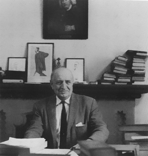 A.S.P. Woodhouse in his office at the University of Toronto