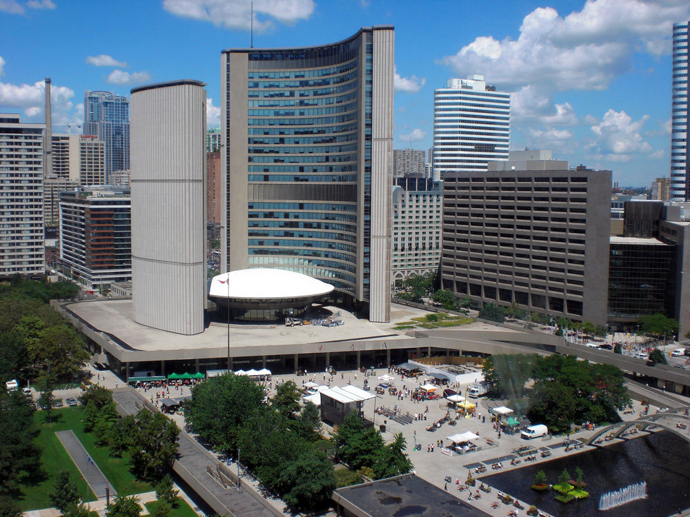 For a thorough discussion of the new Toronto city hall, see:  CIVIC SYMBOL: CREATING TORONTO'S NEW CITY HALL, 1952-1966 By Christopher Armstrong (University of Toronto Press, 2015)