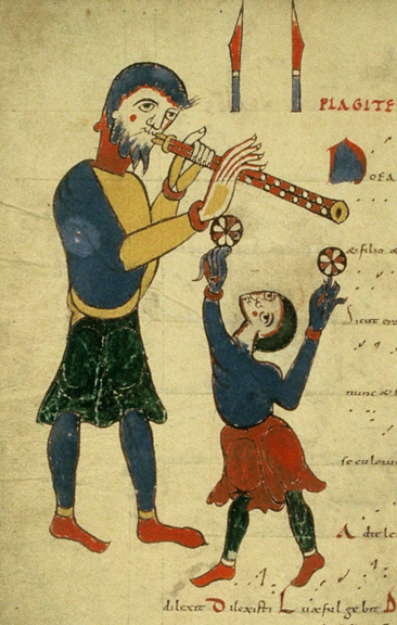 Medieval Jongleur and Musician