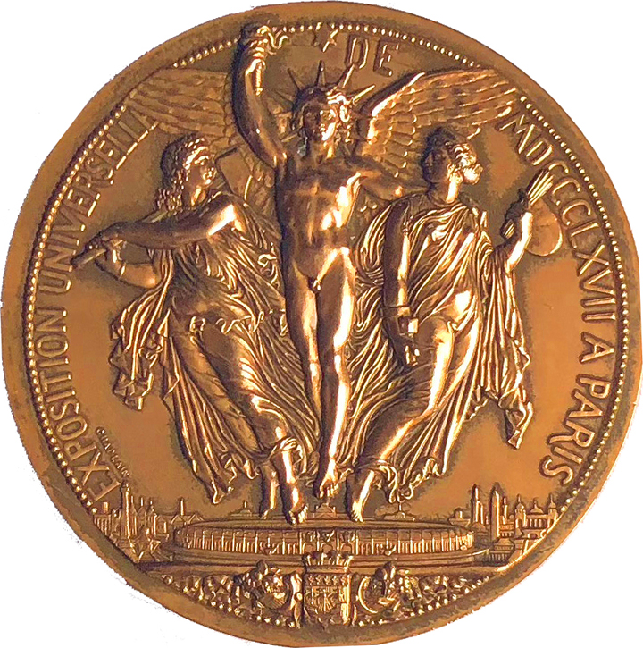 1867  Exposition Universelle  Medal