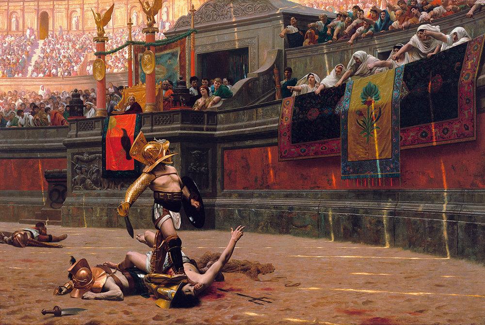 """Jean-Léon Gérôme, """"Pollice Verso"""" (1872)"""