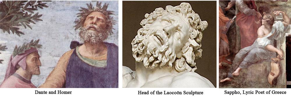 Dante, Homer, Laocoon Sappho.jpg